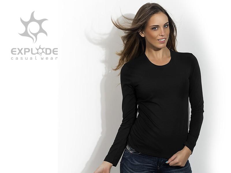 ženska pamučna majica dugih rukava - MISS