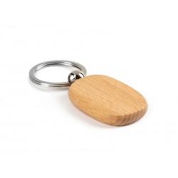 drveni ovalni privezak za ključeve - WOODY O