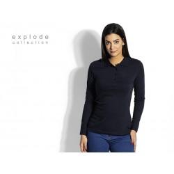 ženska pamučna polo majica dugih rukava - UNA LSL