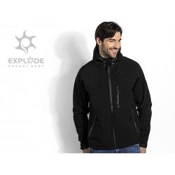 muška softšel jakna sa kapuljačom - BLACK PEAK